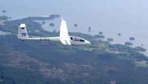 Hartmut Döhler unterwegs in Schweden mit der ASW 20 des Aero Club Lübeck