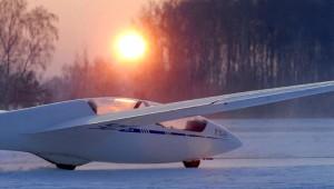 Winterflugbetrieb in Boberg, fotografiert von Holger Weitzel.  www.aufwind-luftbilder.de