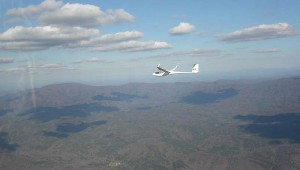 Mitch Deutsch flying an ASW 27 over north Georgia, USA