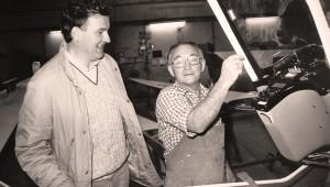 Gerhard Waibel in der Werkstatt