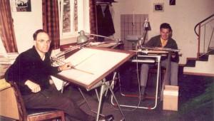 Rudolf Kaiser und Gerhard Waibel im Kaiserkeller