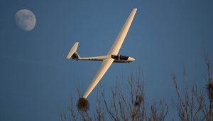 ...und auch die ASK21 des Aero-Clubs Oppenheim Guntersblum am Rhein e.V. bei einem Winterflug im Januar.