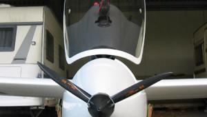 Als 'Aprilscherz' will Sven Baldauf die 'Turbo-Weiterentwicklung' seiner ASW 19 verstanden wissen.