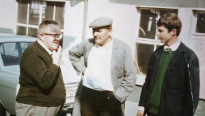 Alexander Schleicher and his son Werner with a customer