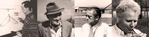 Alexander Lippisch, Hans Jacobs, Heini Dittmar, Edmund Schneider
