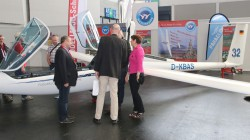 The ASG 32 Mi on the stand of the Glider Flying School Wasserkuppe