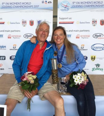 Father Klaus Keim with his happy World Champion