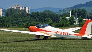 Friedrich Wesch erwischte die ASK16 des Aero Club Heppenheim/Bergstrasse beim Tag der offenen Tür.