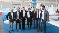 The AS trade fair team: Manfred Münch, Ulrich Simon, Paul Anklam, Tobias Mörsel, Lena, Paula und Ulrich Kremer, Joschka Schmeisl