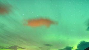 Die ASW 20 C wartet im Schein der Nordlichter auf den nächsten Tag. Foto: Mike Engström