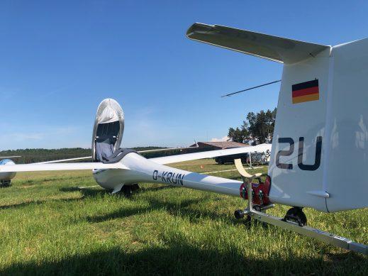 """The """"2U"""" awaits its next flight."""