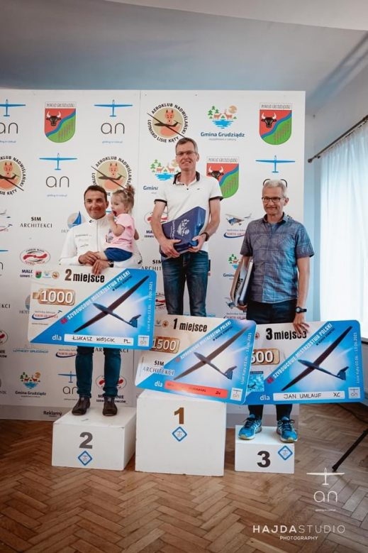 The final podium in poland